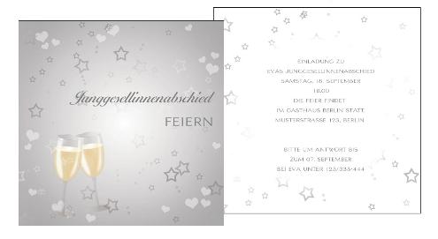 Einladung zum Junggesellinnenabschied: Unsere Top-Kartendesigns