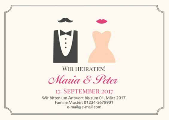 Hochzeitskarten - Einladungskarten zur Hochzeit