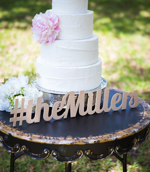 Hochzeitstorte Schriftzug Mit Euren Namen
