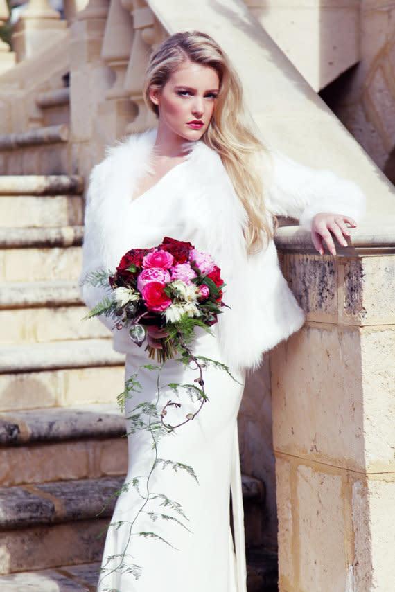 Brautmantel im Winter - neue Trends