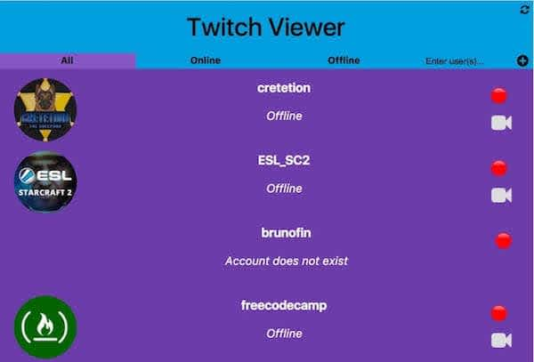 Twitch.tv viewer v1.1 with ability to add new users