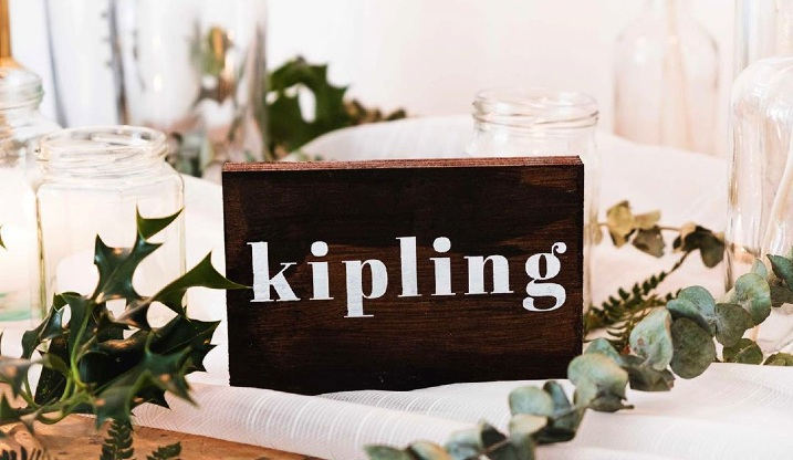 Authors wedding table name sign