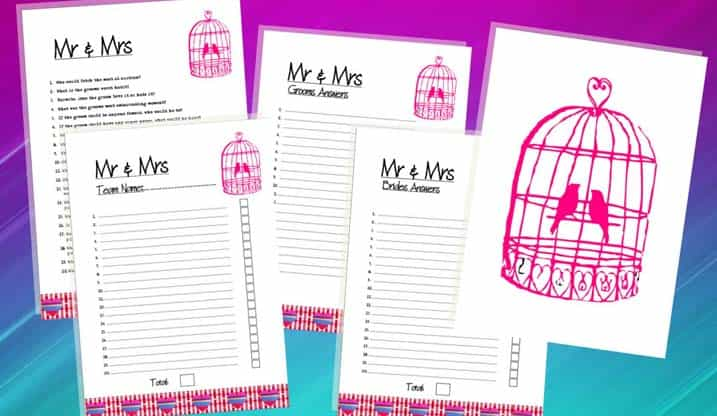 Hen Party Games Mr and Mrs The Foxy Hen