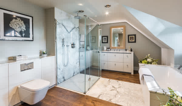 A recently renovated bathroom