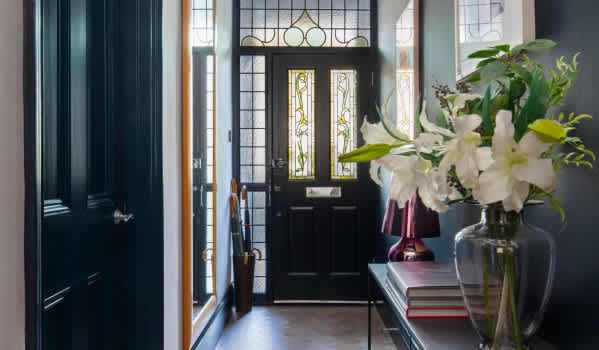 Stylish hallway with period features