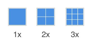 Pixel densities examples