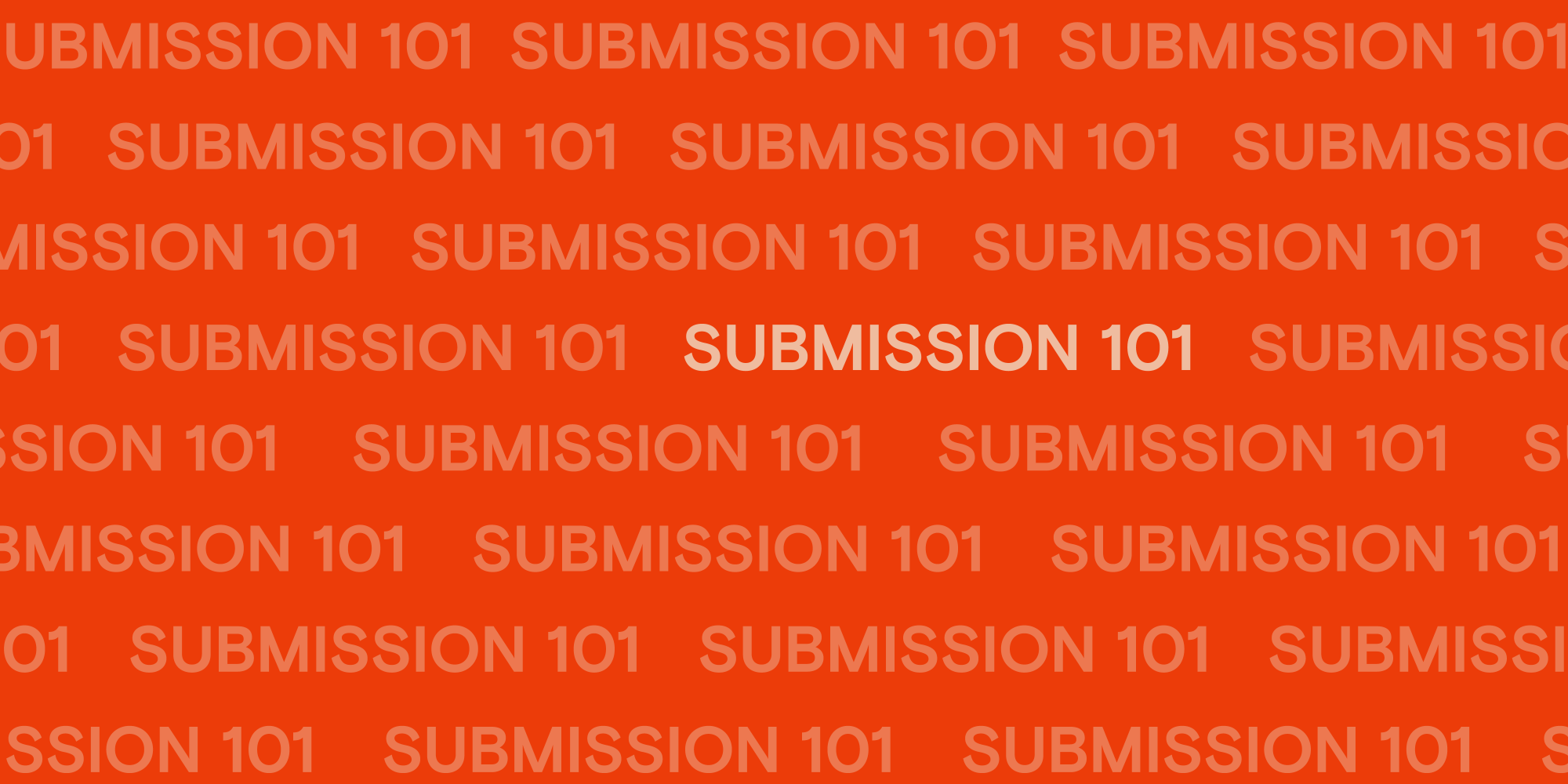 Article cover: A beginner's guide to submission