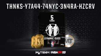 Most recent NBA 2K19 Locker Code: Locker Code Dynamic Duos Pack, 20,000 MT, or 75 Tokens