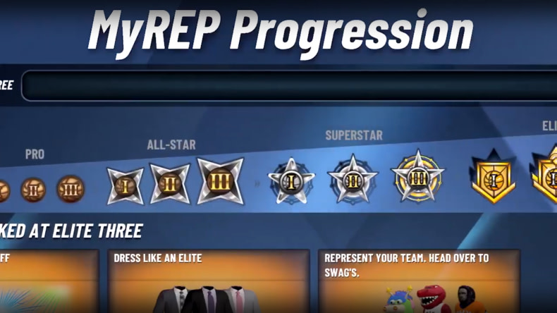 NBA 2K20 Park Rep Levels