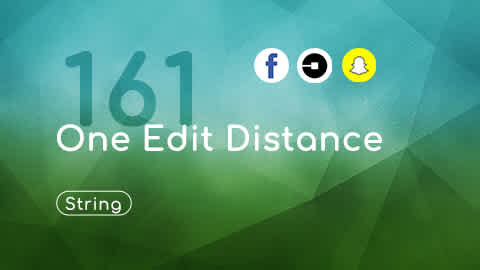 LeetCode 161, One Edit Distance