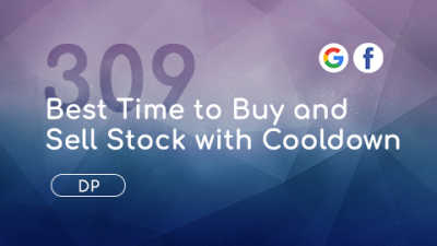 LeetCode 309, Best Time to Buy and Sell Stock with Cooldown