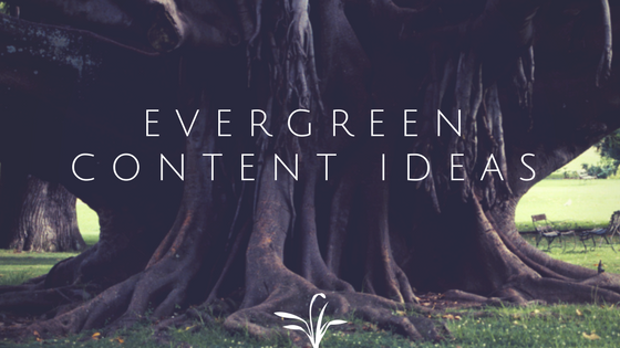 Coming up with evergreen content ideas
