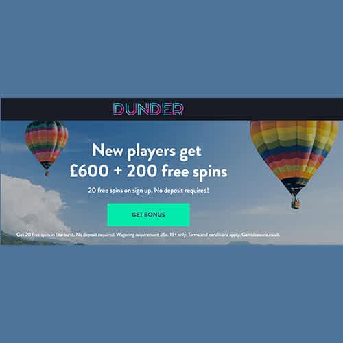 Dunder Casino Free Spins And Match Bonus Aocb