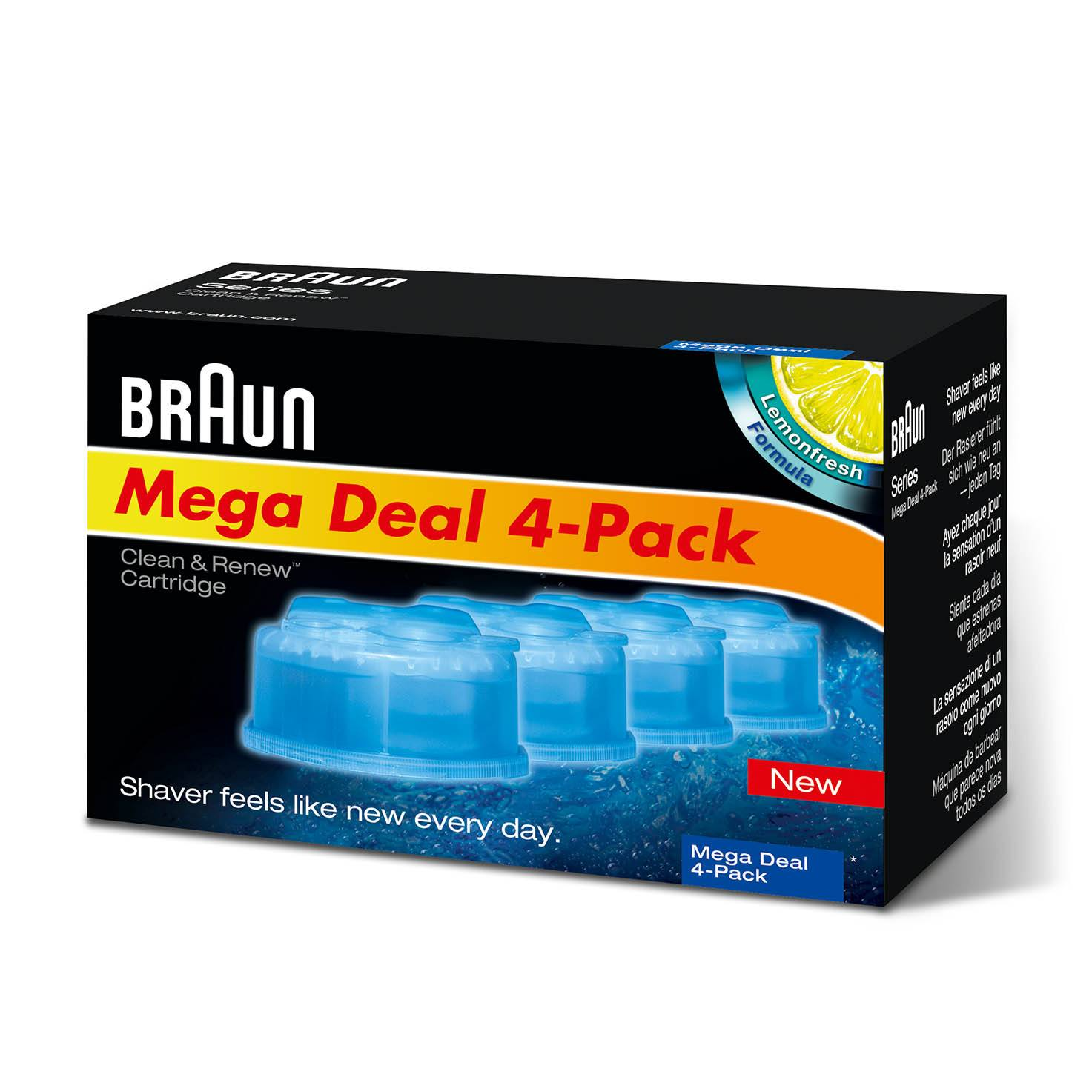Braun Clean and Charge Refills  4 Pack