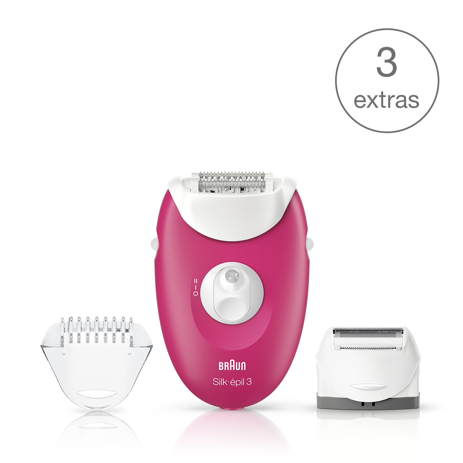 Silk-épil 3 3-410 epilator - What´s in the box