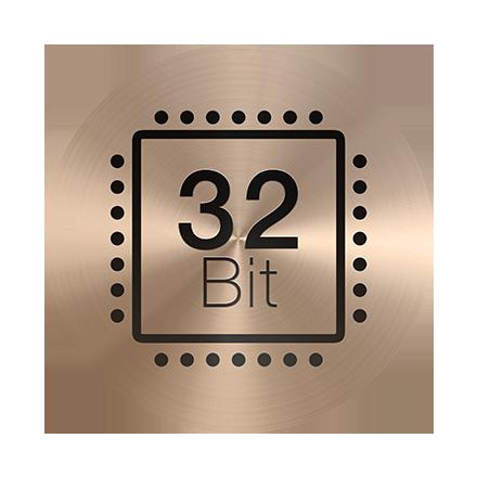 Továbbfejlesztett, 32 bites chip