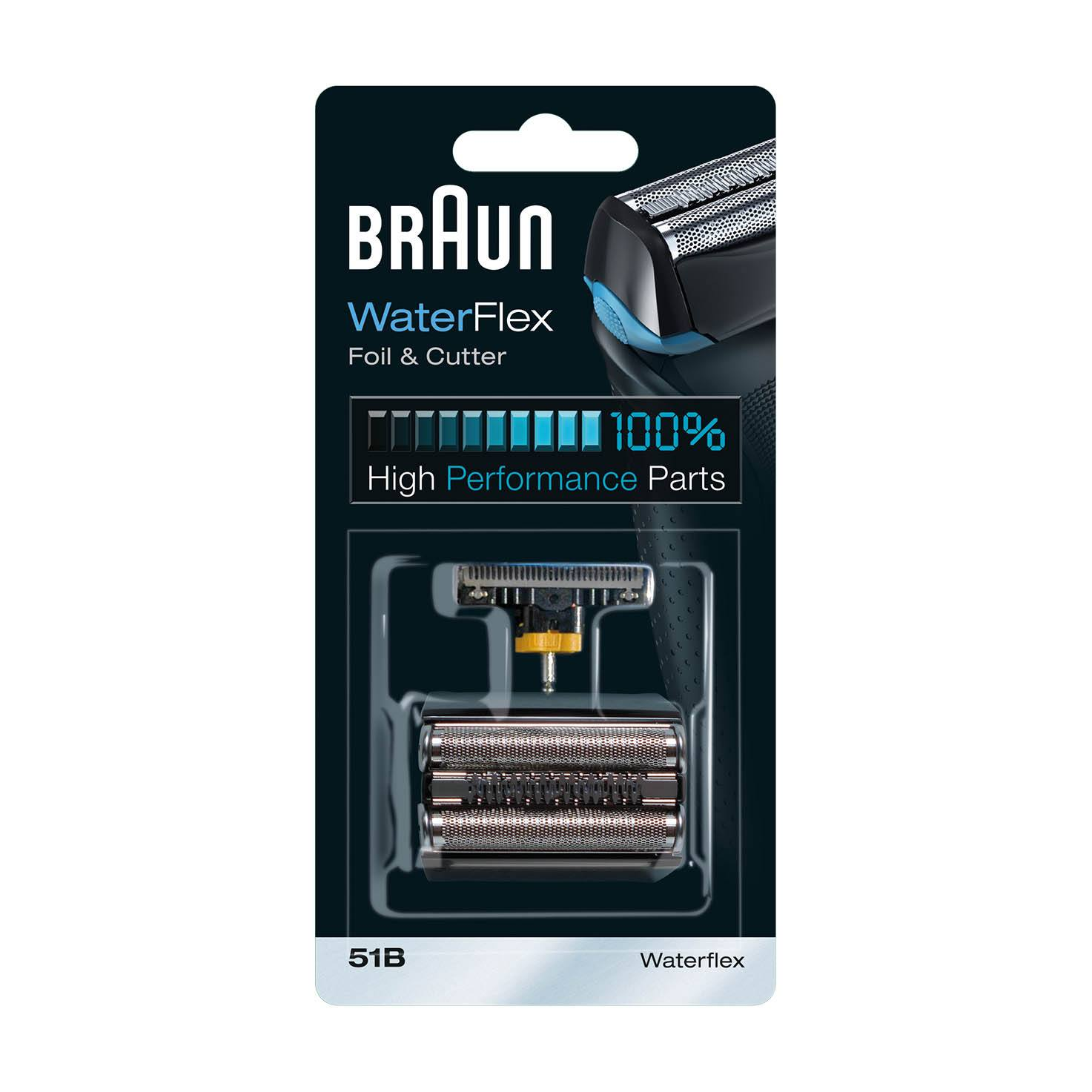 Braun Waterflex Combi 51B Foil and Cutter Replacement pack