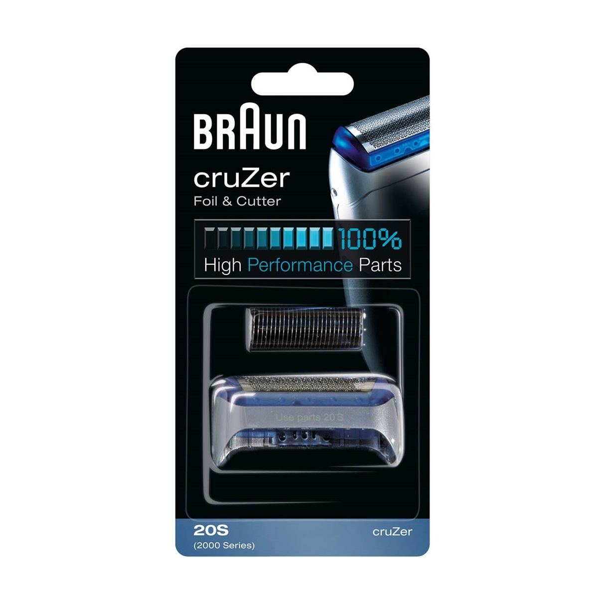 Braun 20S Replacement Foil and Cutter Cassette Multi Silver BLS Combi pack