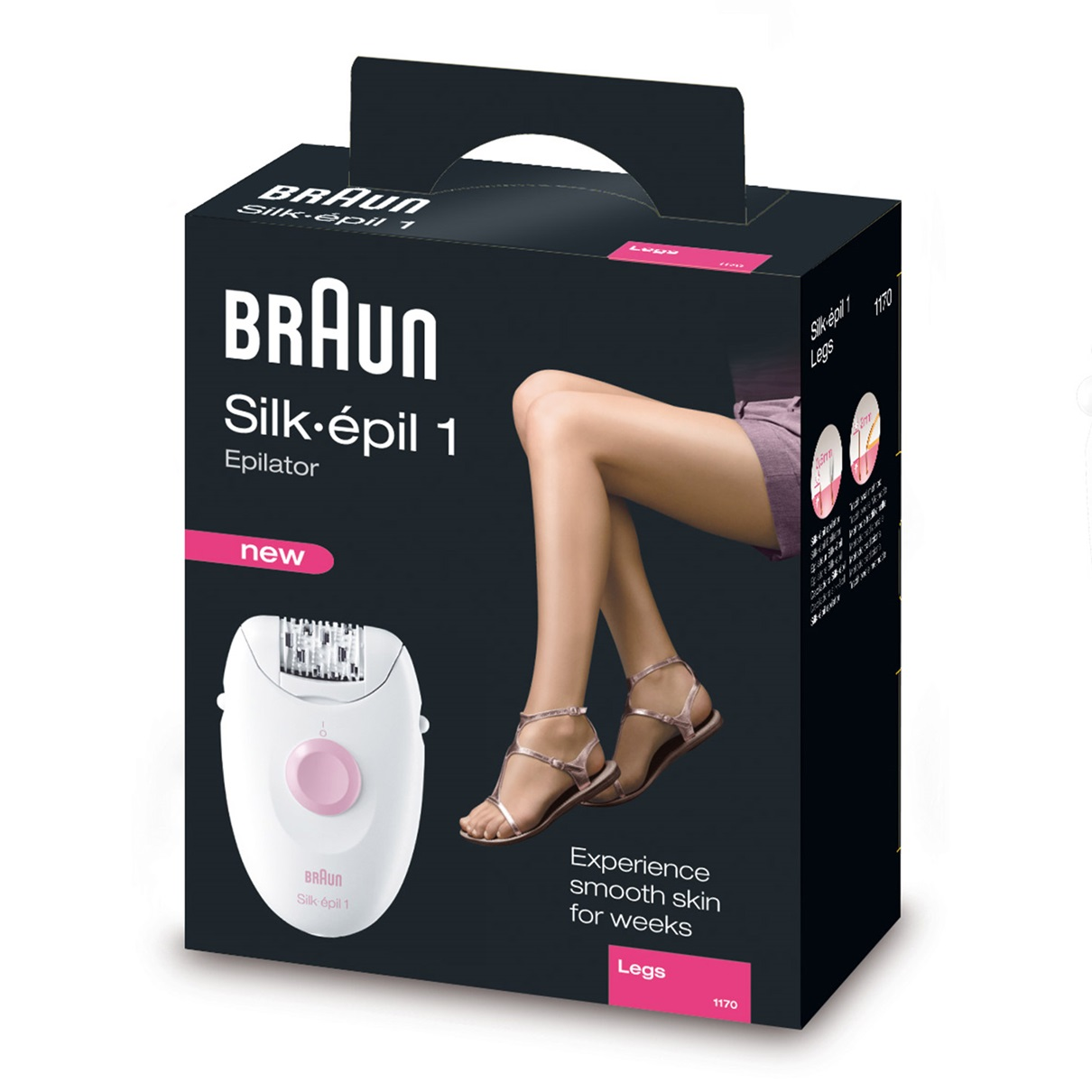 Braun Silk-épil 1 - 1170 Legs Epilator - packaging