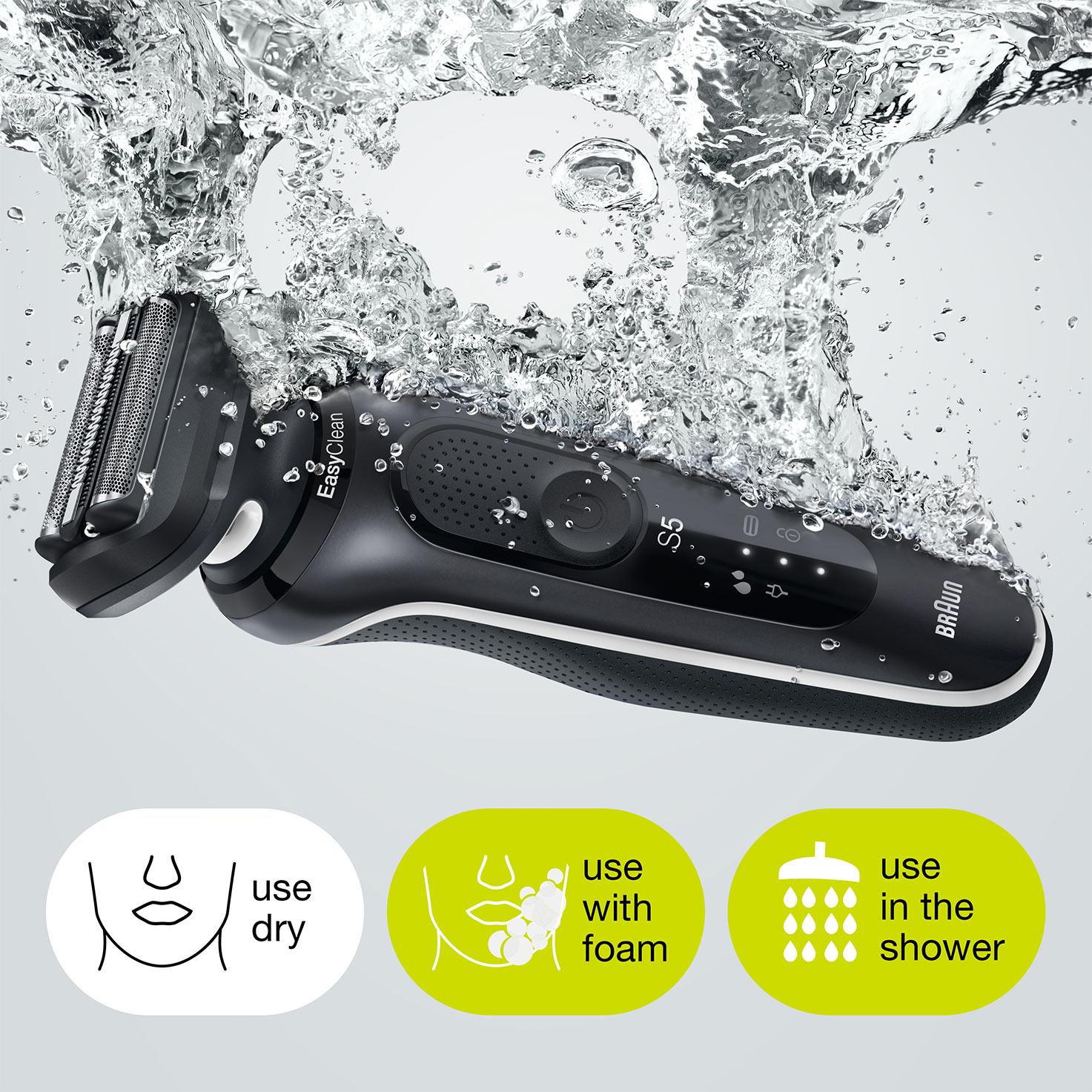 100%-ban vízálló Wet&Dry használatra