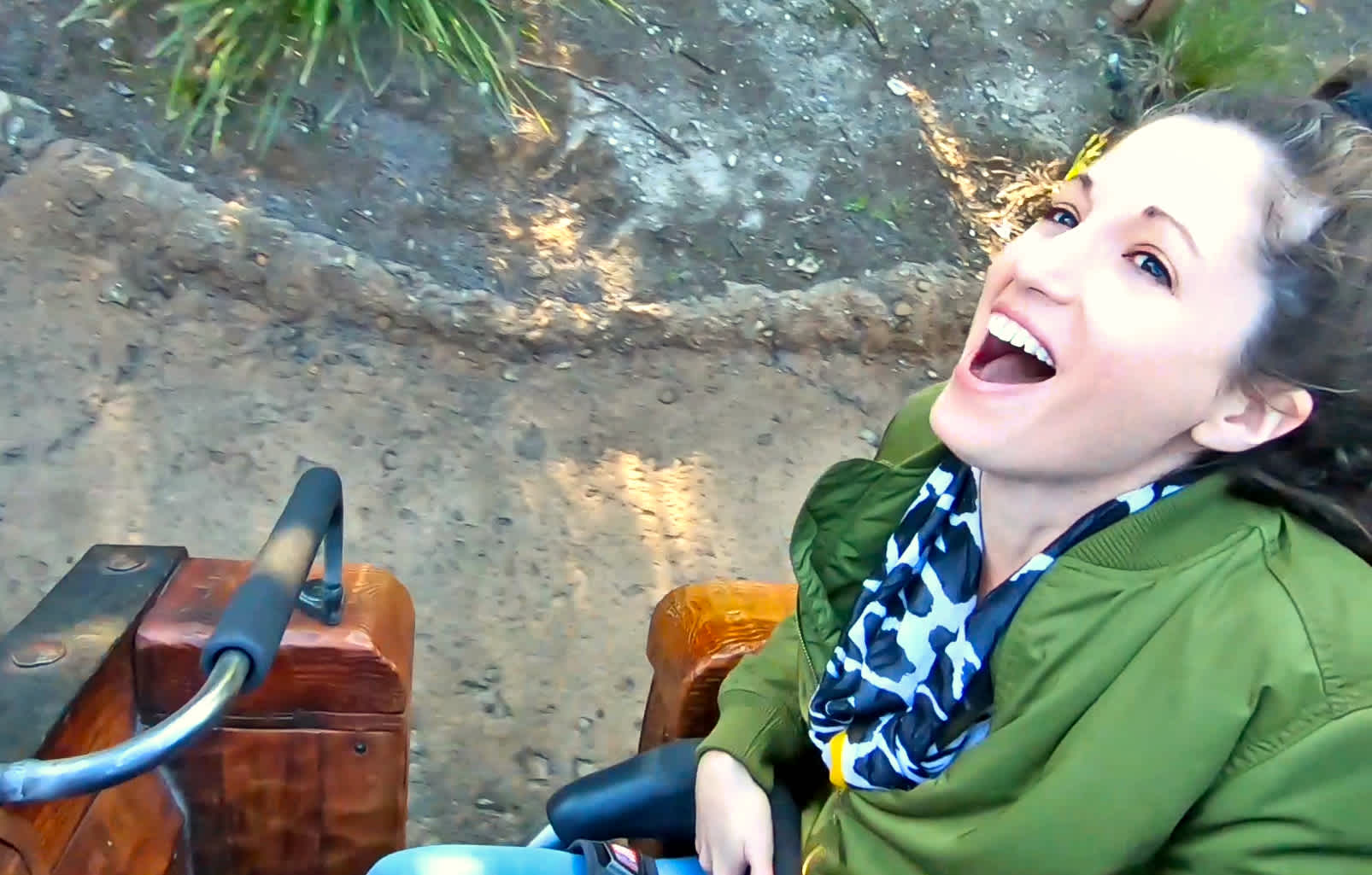 Laughing on Seven Dwarfs Mine Train