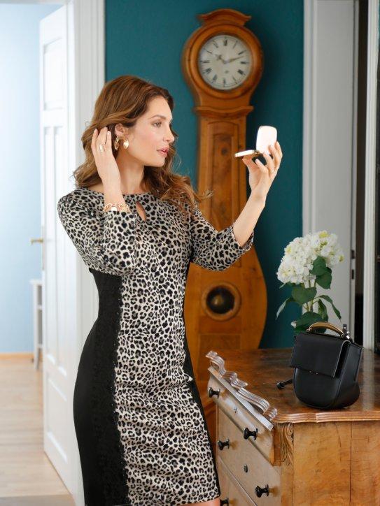 Elegantes Kleid mit Leopardenprint