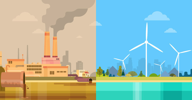 Wind energy benefits include a cleaner environment compared to traditional polluting fossil fuels