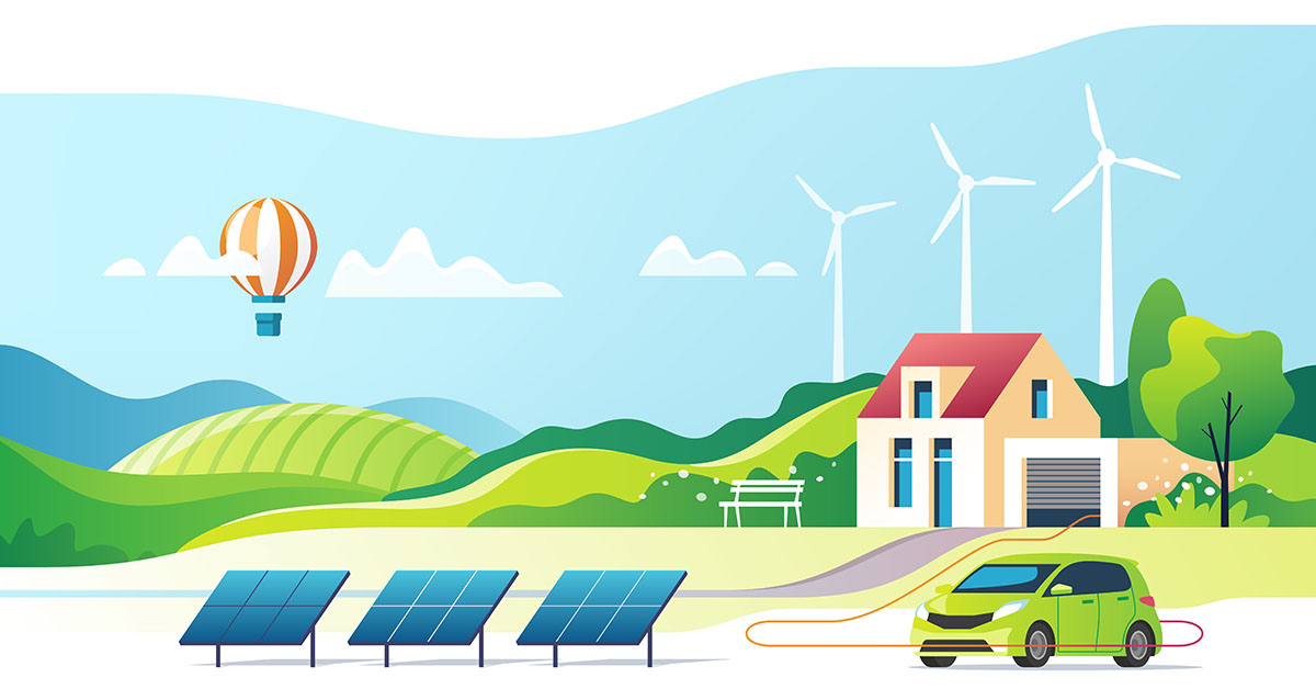 Advantages of wind energy include clean power for your home and electric vehicle charging