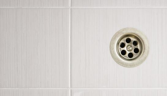 A clean and clear shower drain