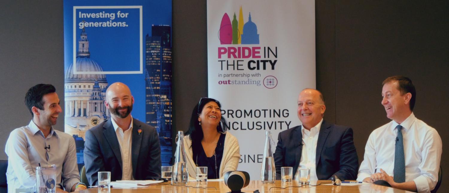 Panel of speakers of pride in the city and outstanding meeting