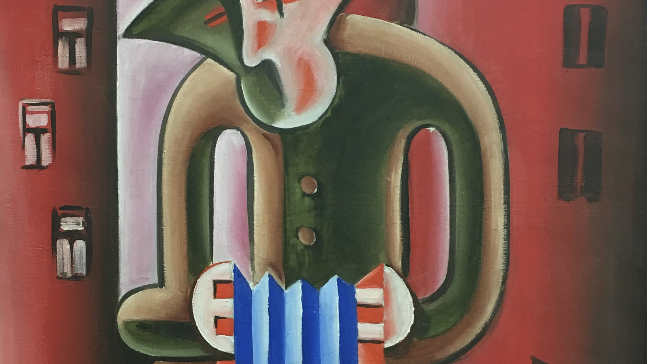 Josef Capek (1887-1945), Harmonikar, Accordion Player, 1919, akquired in 1965