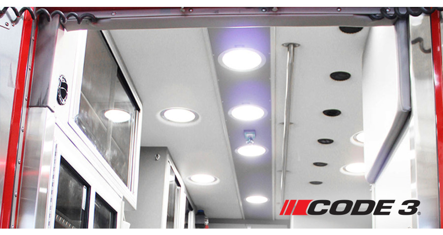 Code 3® Announces First of its Kind Bacteria Killing Patient Compartment Light Powered By Vital Vio