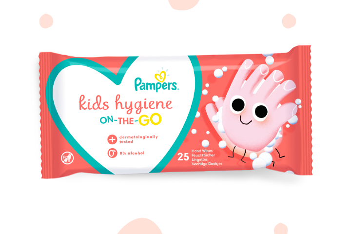 Pampers® Kids Hygiene On-The-Go wipes