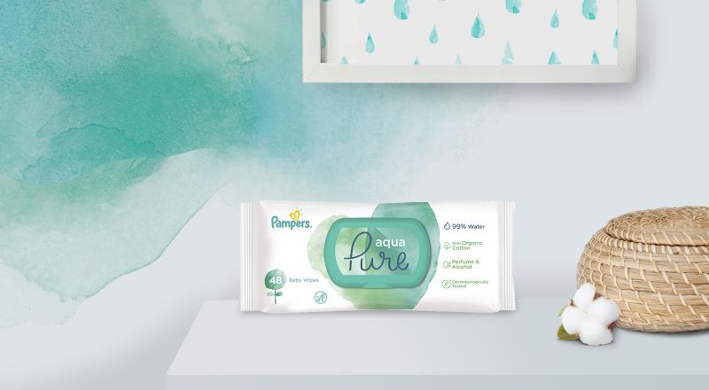 Pampers® Aqua Pure Μωρομάντηλα