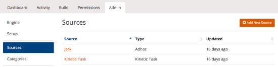 admin sources list