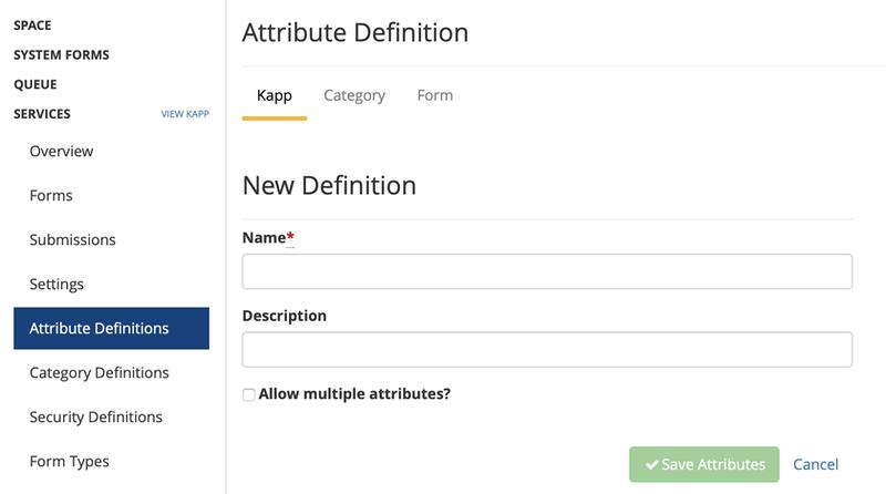 add attribute definition