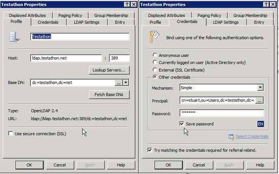 ldap Configuring Softerra LDAP Browser