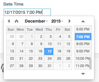 question date time web