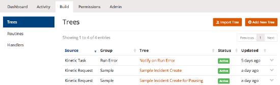 build tree list