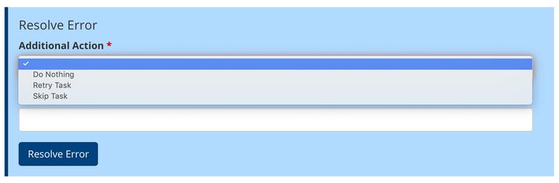 resolve errors options