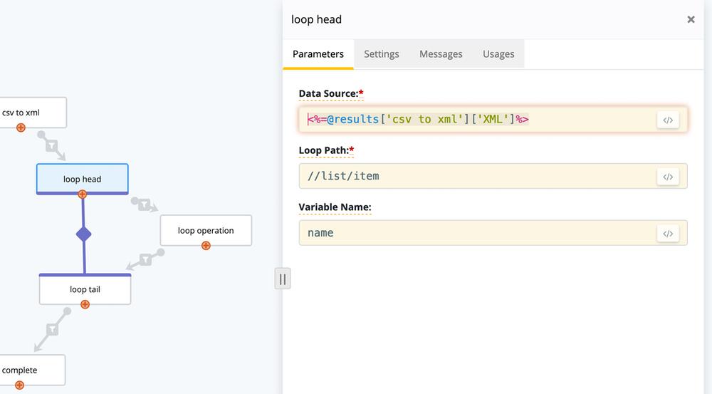 V5 Loop Head XML