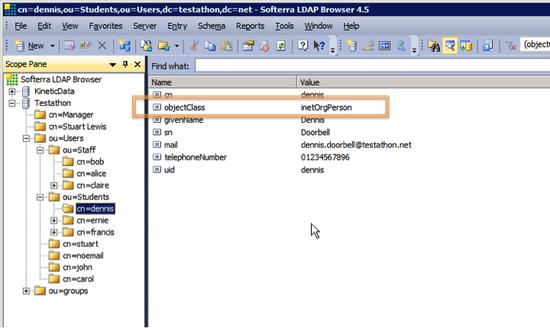 ldap Viewing Data in the LDAP Browser
