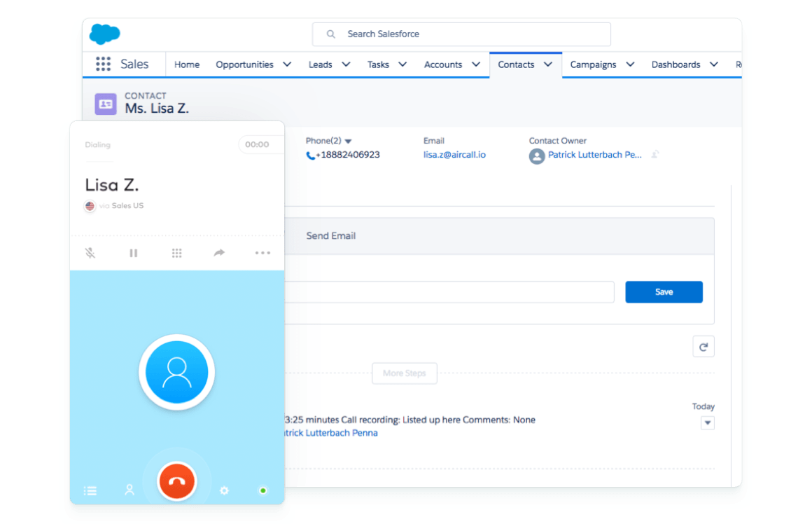 Salesforce Phone System & Call Center Software Integration | Aircall
