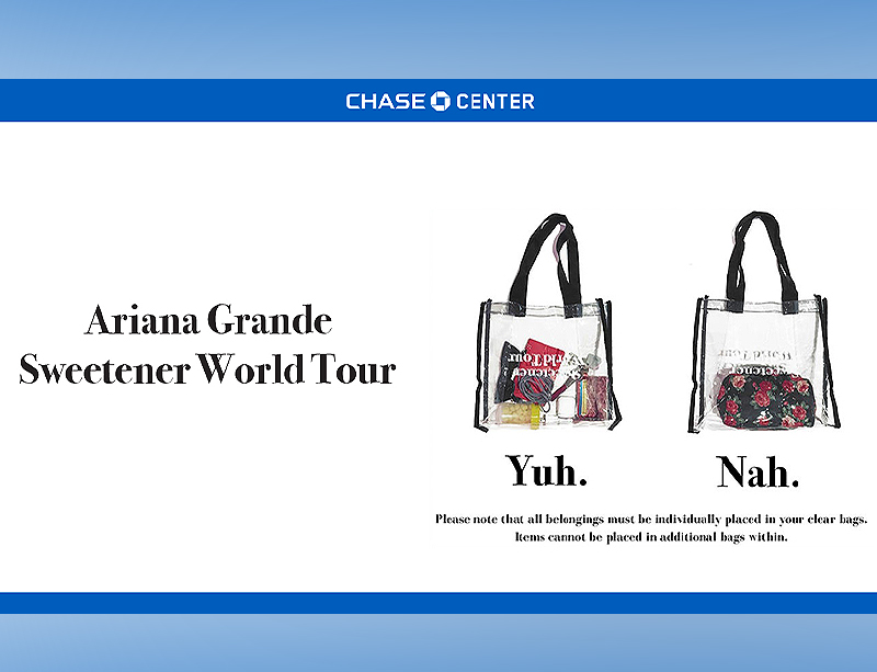 New-Ariana-Bag-Policy