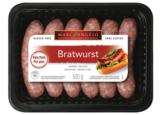 Packaging Bratwurst Sausage
