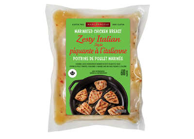 Zesty Italian Chicken Tips Packaging
