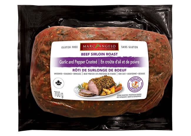 Garlic and Pepper Crusted Roast Packaging
