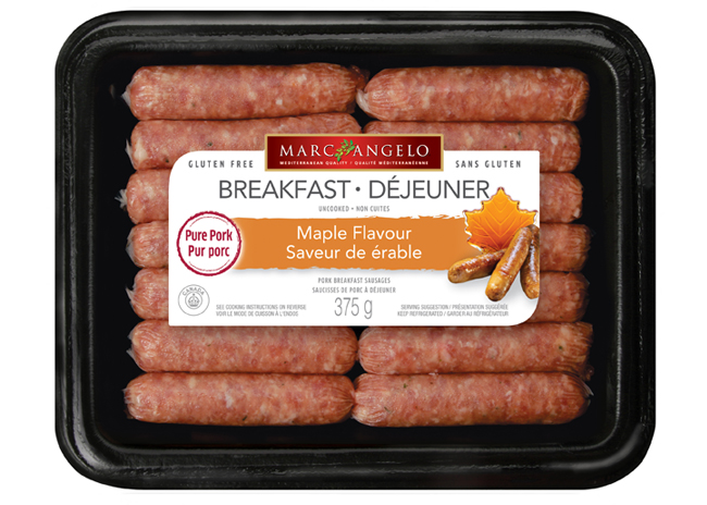 Packaging Breakfast Maple Sausage