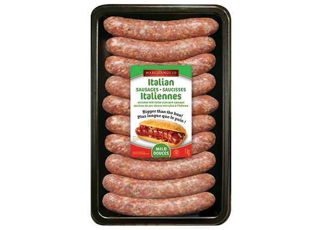 Packaging Mild Italian Pork Sausages VP