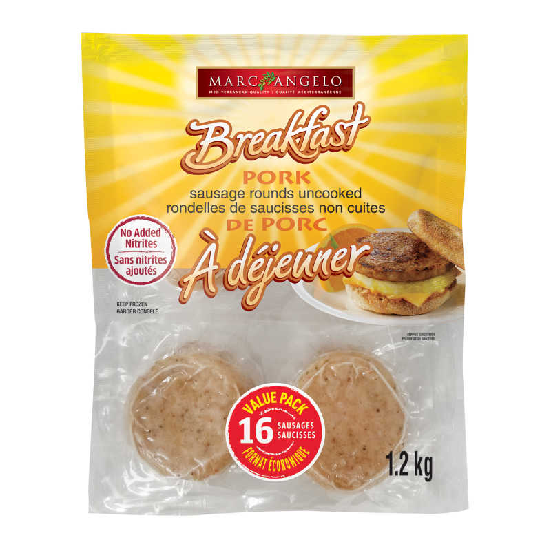 Frozen Pork Sausage Rounds pkg